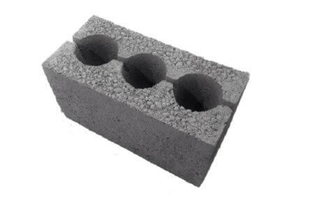 усиленный керамзитоблок прочность блока М75, вес 13-14кг