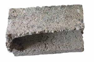 срез керамзитобетонного блока без доломита в составе