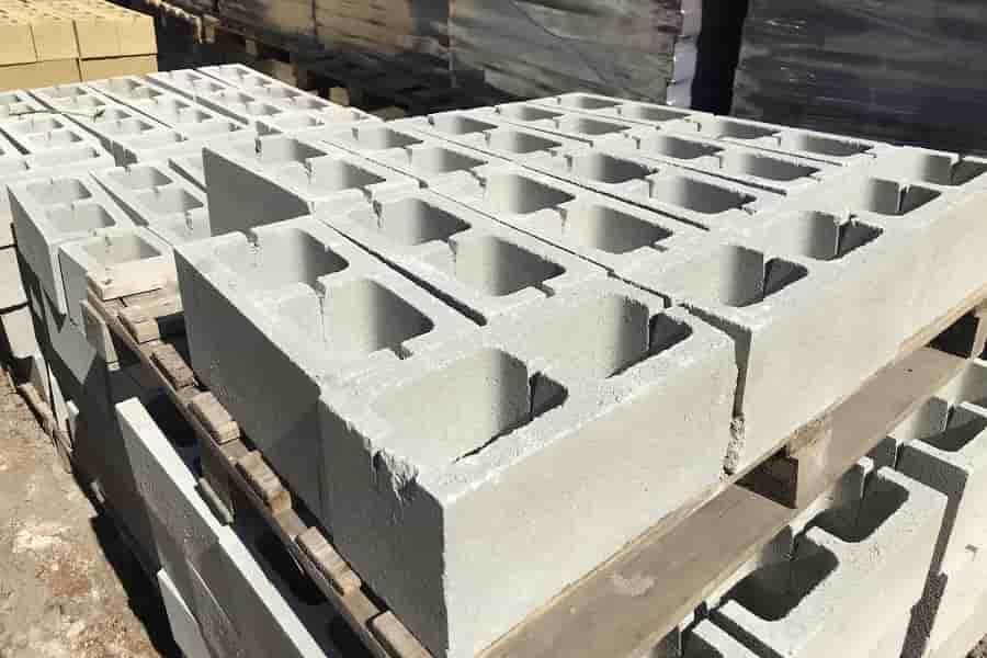 доломитовый блок двухпустотный серый