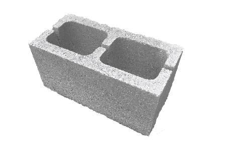 доломитовый двухпустотный блок