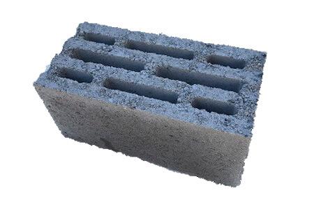 восьмищелевой керамзитобетонный блок