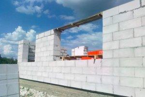 строительство домов возведенная стена