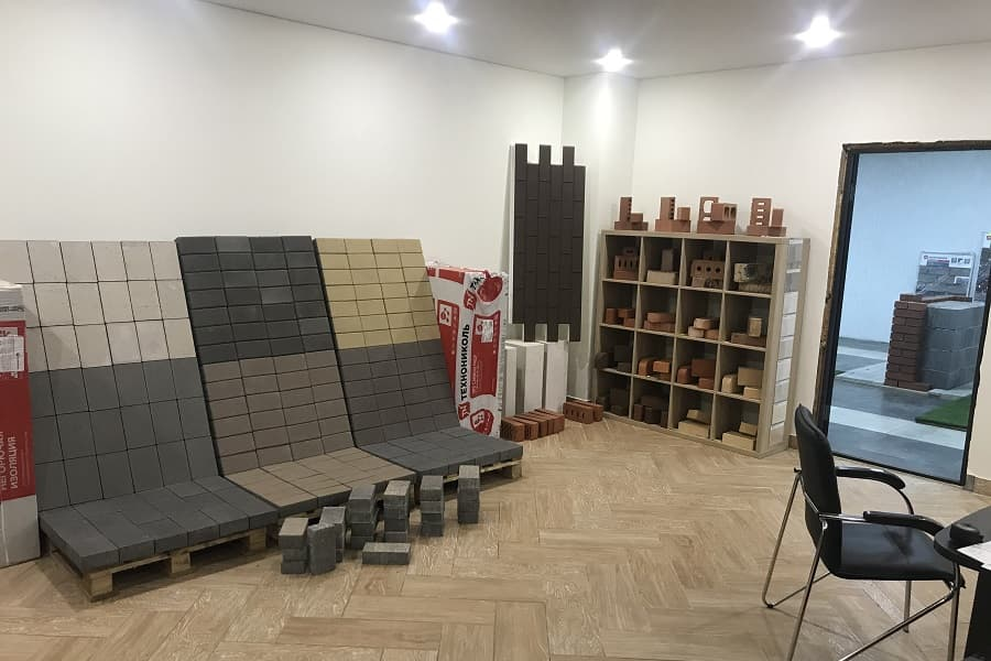 наш выставочный зал тротуарной плитки в самаре